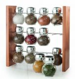 Baccarat Linear 13 Piece Bamboo Spice Carousel with Seasoning