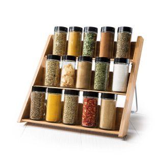 Baccarat Spice Market Mellah Bamboo 15 Jar Spice Rack