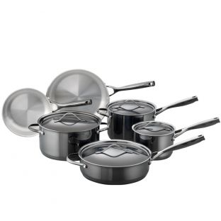 Baccarat iD3 Black Platinum 6 Piece Stainless Steel Cookware Set
