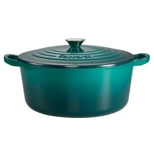 Baccarat Le Connoisseur Limited Edition Cast Iron Round French Oven 29cm/6.3L Teal