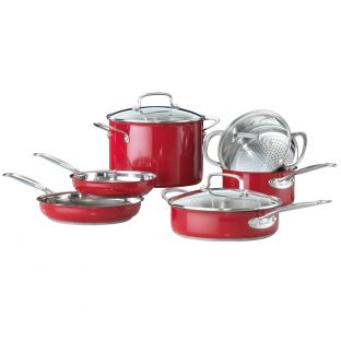 Baccarat Signature Stainless Steel 6 Piece Cookware Set Red (Introductory Offer)