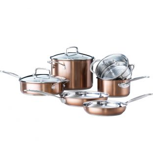 Baccarat Signature 6 Piece Cookware Set Copper