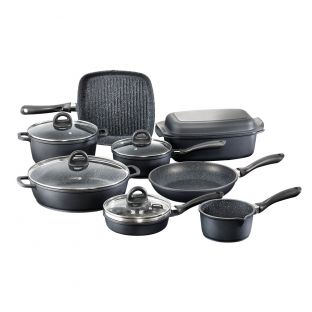 Baccarat Stone Cookware 10 Piece Set with Egg Poacher