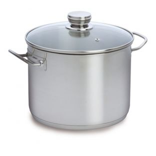 Baccarat Entree Stainless Steel 24cm 8 Litre Stockpot with Glass Lid