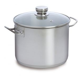 Baccarat Entree Stainless Steel 28cm 12 Litre Stockpot with Glass Lid