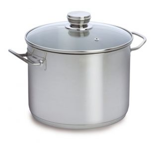 Baccarat Gourmet Stainless Steel 30cm 16.5 Litre Stockpot with Glass Lid