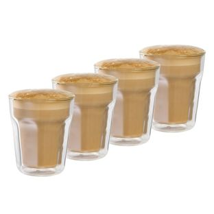 Baccarat Barista Facet 8 236ml Double Wall Latte Glass - Set of 4