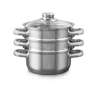 Baccarat Gourmet 18cm 3 Tier Steamer