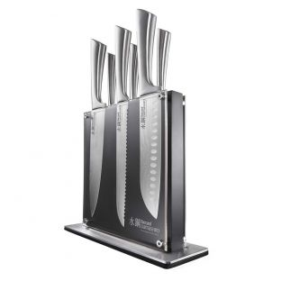 Baccarat Damashiro 7 Piece Kin Knife Block