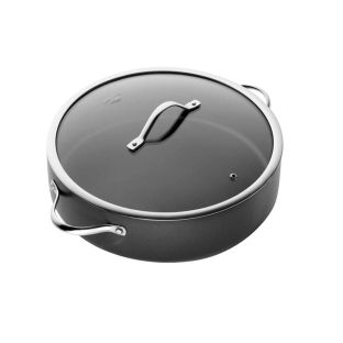 Baccarat iD3 Hard Anodised Saute Pan With Lid 32 x 8.5cm