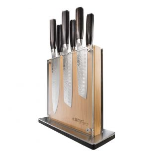 Baccarat Damashiro Emperor Shi Knife Block 7 Piece