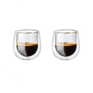 Baccarat Barista Cafe Double Wall Espresso Glass Set of 2