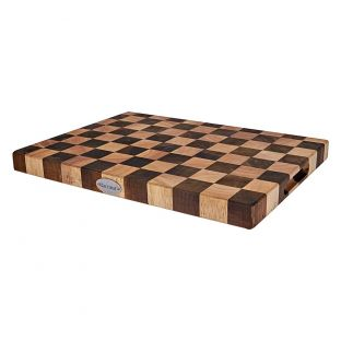 Baccarat Butchers Corner Endgrain Checker Chopping Board 38 x 28cm