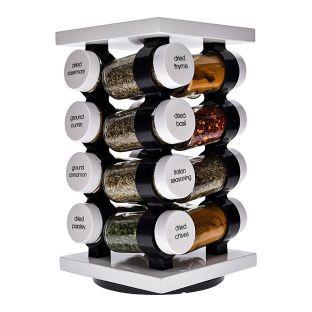 Baccarat Spice Market Aroma 16 Jar Rotating Spice Rack White