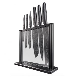 Baccarat iD3 Black Samurai Gozen Knife Block 7 Piece