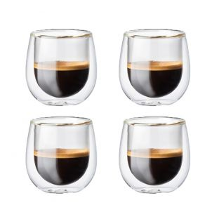 Baccarat Barista Cafe Espresso 4 Piece Glass Set 90ml
