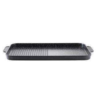Baccarat Granite Cast Aluminium Non Stick Grill Plate 49cm Black