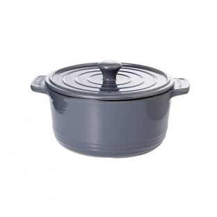 Baccarat Stone Non Stick Round Casserole with Lid 3.5L