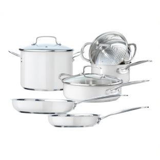 Baccarat Signature 6 Piece Stainless Steel Cookware Set White