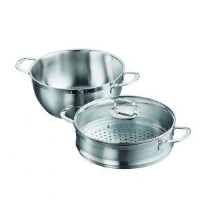 Baccarat Gourmet 2 Piece Stainless Steel Casserole & Steamer Set 28cm