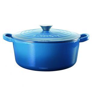 Baccarat Le Connoisseur Cast Iron Round French Oven 29cm 6.3L Dark Blue