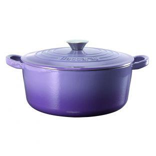 Baccarat Le Connoisseur Cast Iron Round French Oven 29cm 6.3L Purple