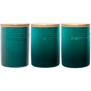 Baccarat Le Connoisseur Canister Set of 3 Teal