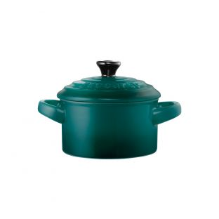 Baccarat Le Connoisseur Stoneware Mini Casserole with Lid 250ml Teal