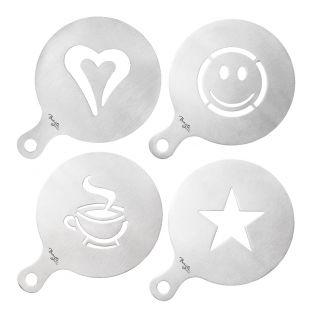 Baccarat Barista Brillante Coffee Stencils Set of 4