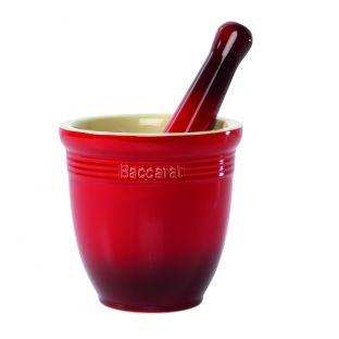 Baccarat Le Connoisseur Mortar & Pestle Red