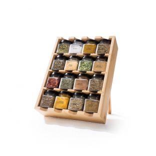 Baccarat Spice Market Garnish 16 Jar Bamboo Drawer Spice Rack