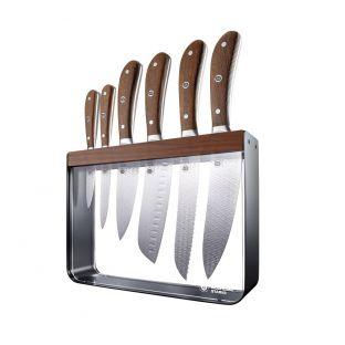Baccarat Wolfgang Starke Oak Harz 7 Piece Knife Block
