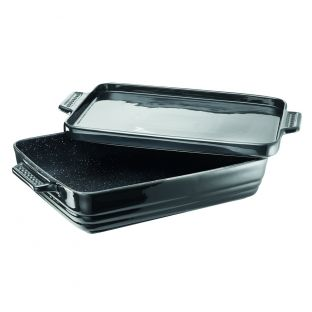 Baccarat STONE Non-Stick 40cm Lasagne Dish with Platter Lid