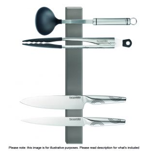 Baccarat Universal Magnetic Knife Holder 40cm Graphite
